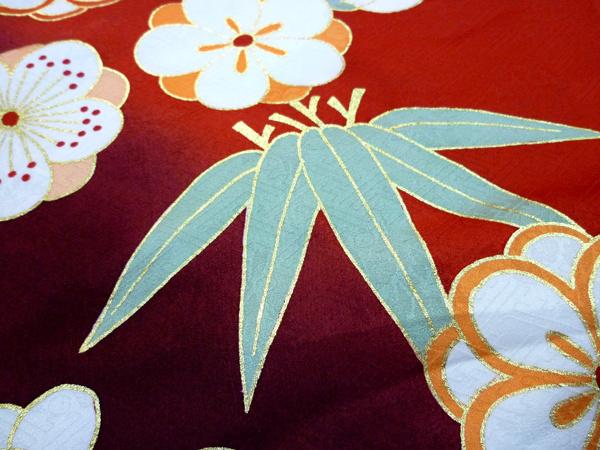 古典柄の振袖-竹
