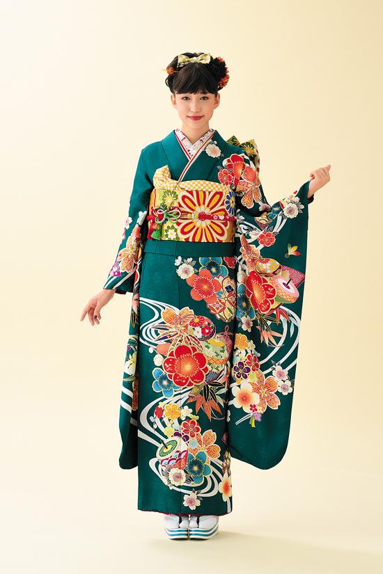 振袖舞姫 MB183-2-緑