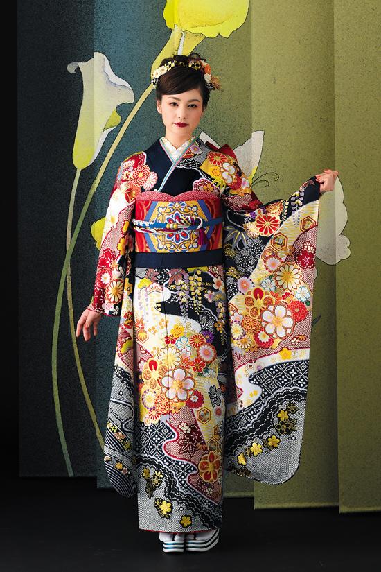 振袖舞姫 MS283-紺
