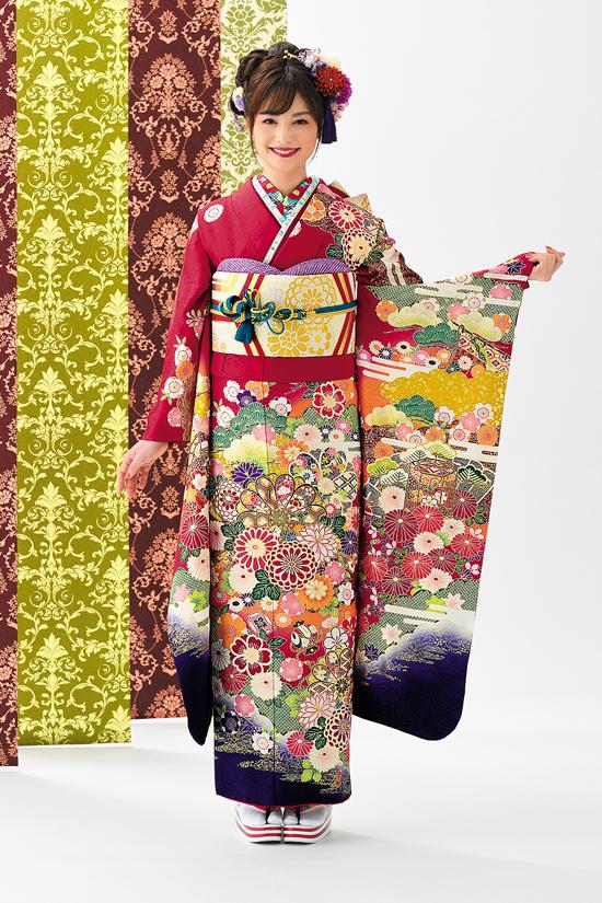 振袖舞姫 MS285-赤、紫